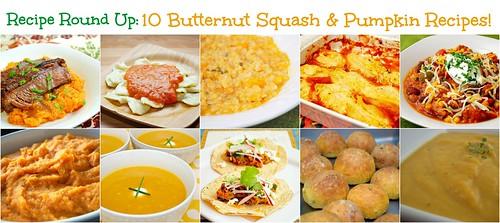 Recipe Round Up: Butternut Squash & Pumpkin!