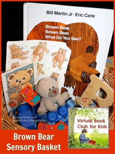 Brown Bear Sensory Basket from The Good Long Road