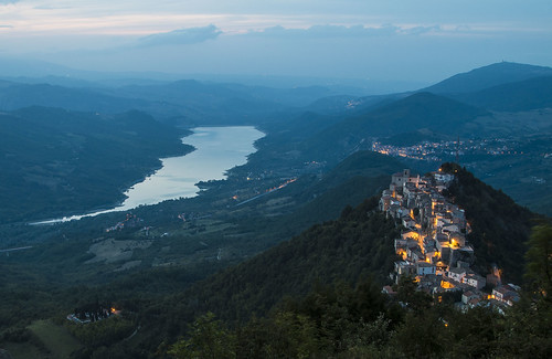 night falls over the Sangro Valley