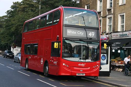 Abellio London 2473 on Route 49, Kensington