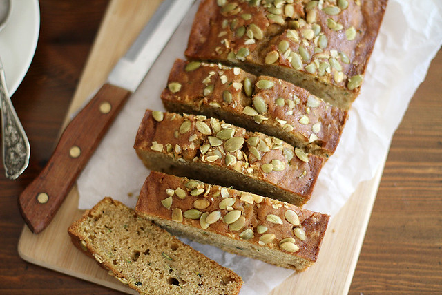 Pumpkin Zucchini Bread | girlversusdough.com @stephmwise