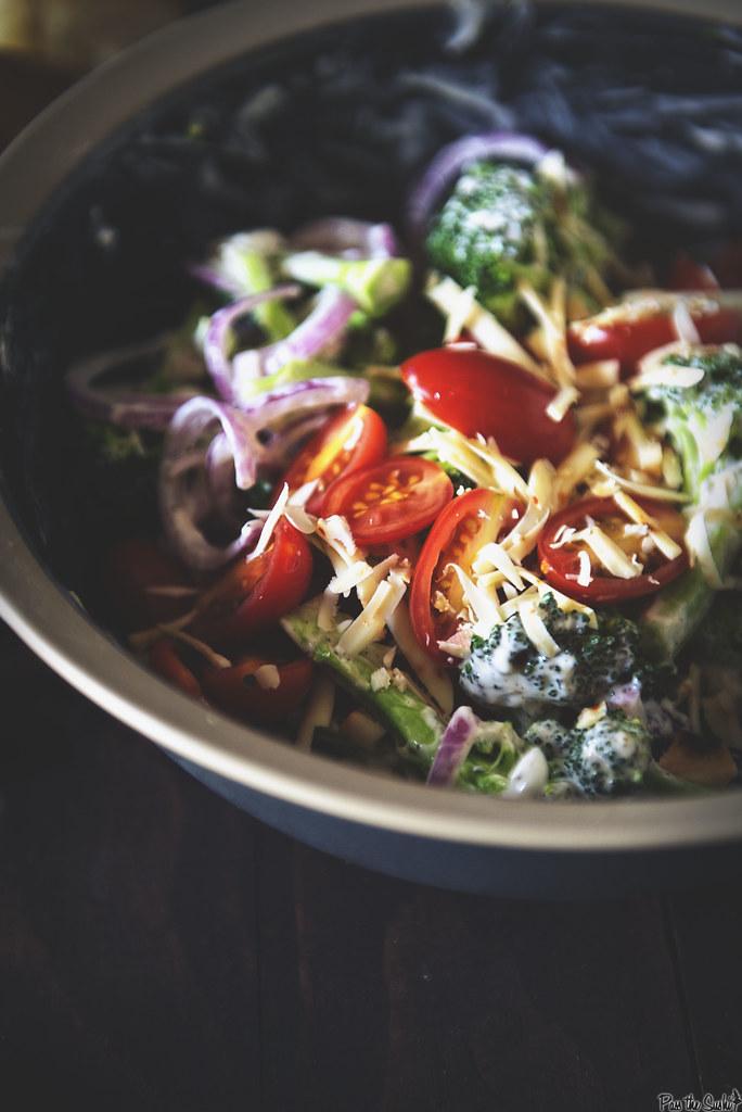Bacon Cheddar Broccoli Salad