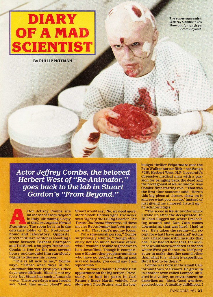 Jeffrey Combs interview