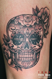Tattoo by ALX TRMP fisherman tattoo club Aix en provence