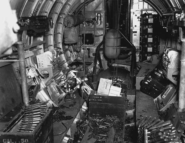 Inside a B-17 after a mission