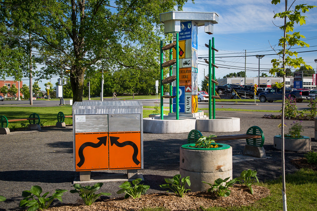 Fontaine du développement durable, à Victoriaville