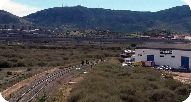 Fallece un varón arrollado por el tren
