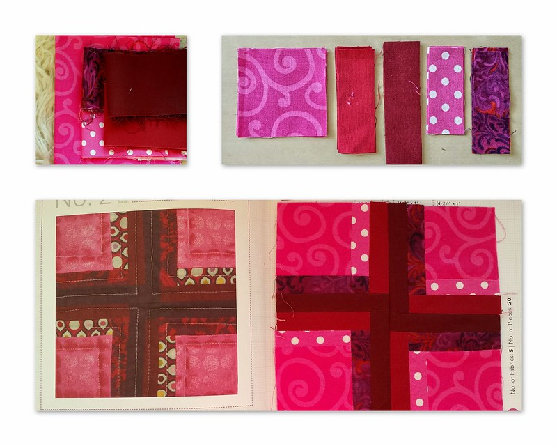 Collage Block2 cross pink