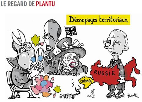 14f05 LMonde Plantu Putin llega Conmemoraciones D Day con su reforma territorial bajo el brazo
