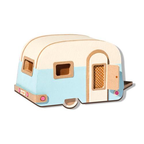 Paper Caravan Brooch