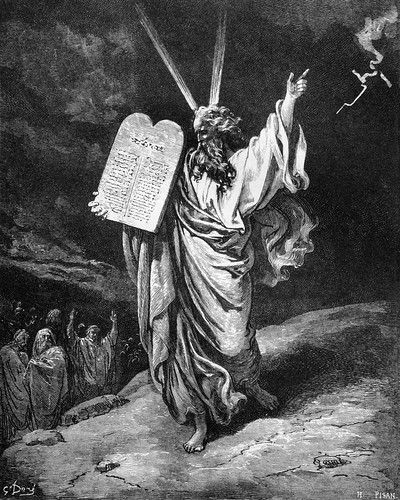Gustav Doré: Moses Giving the Law on Mt. Sinai | by Ed Suominen