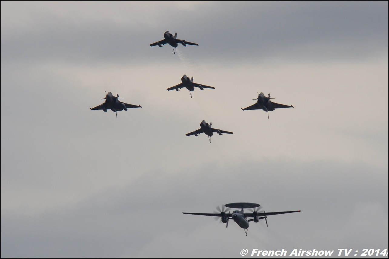 Super Etendard, Rafale Marine, Hawkeye, JPO BAN Hyères 2014