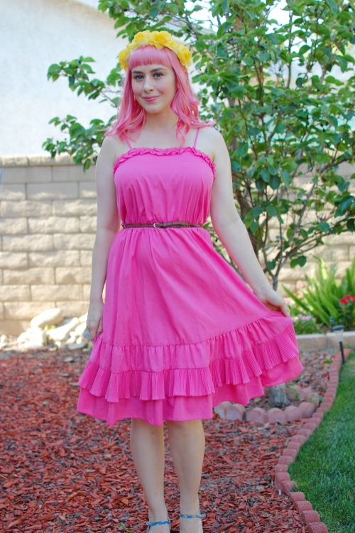pink ruffled dress 7