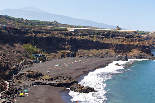 Playa Bollullo and beach bar, La Ortova, Tenerife