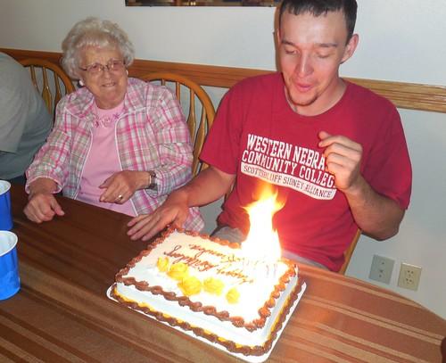 Grandma and Brandon on his 22nd