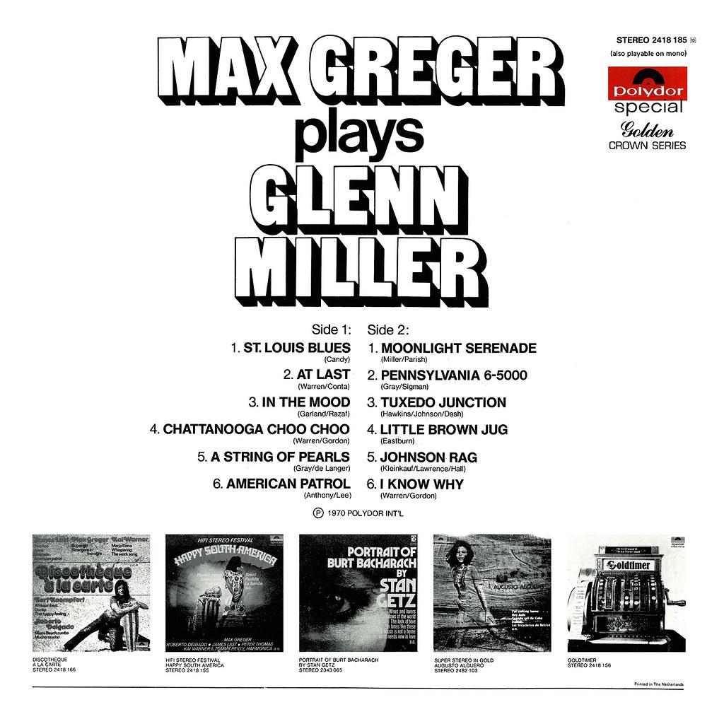 Max Greger Plays Glenn Miller