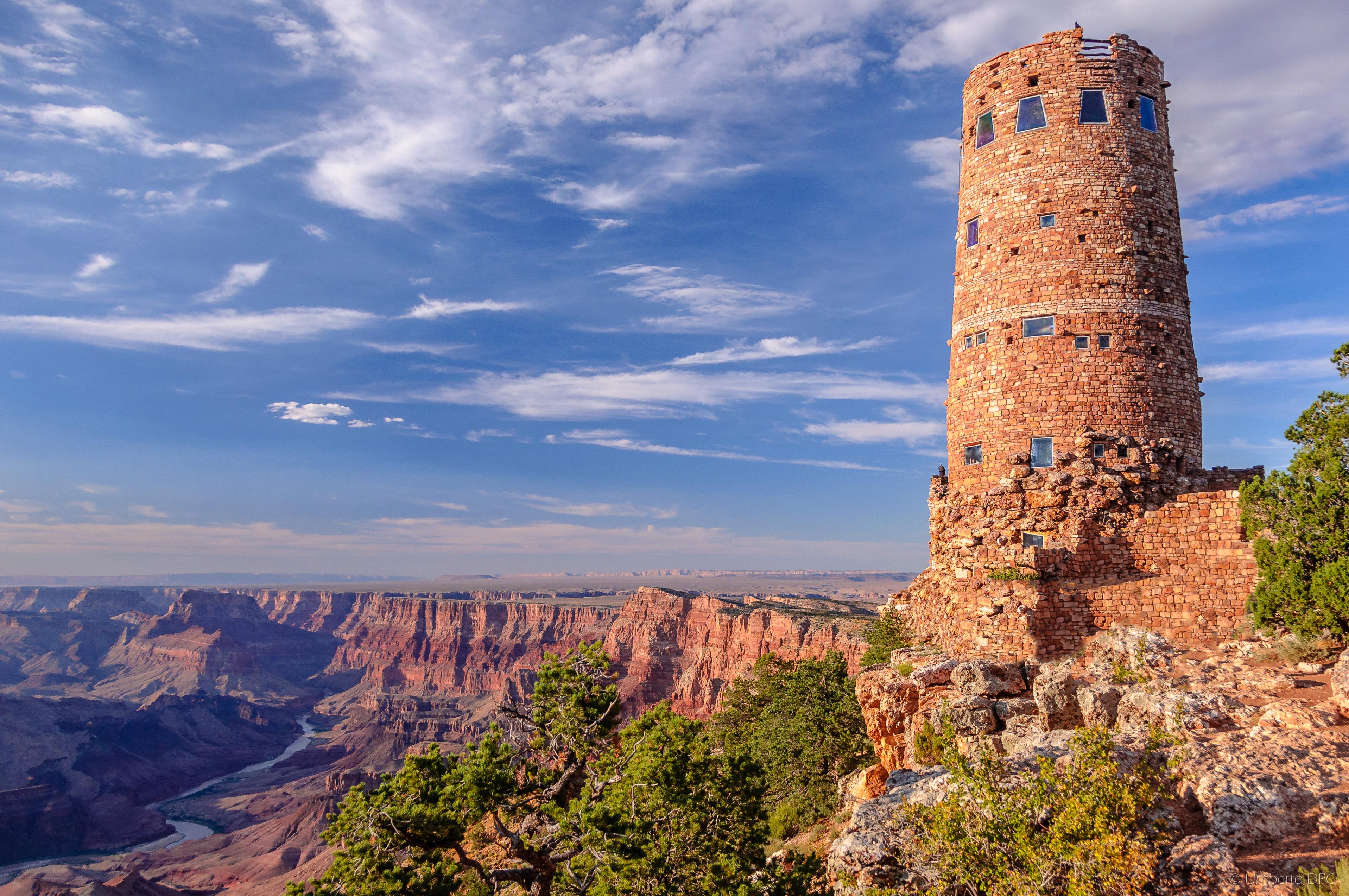 Elevation Of Desert View Watchtower Grand Canyon Village Az Usa