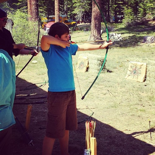Lucas shooting arrows at Valhalla Renaissance Fair enough #rennfaire #archery