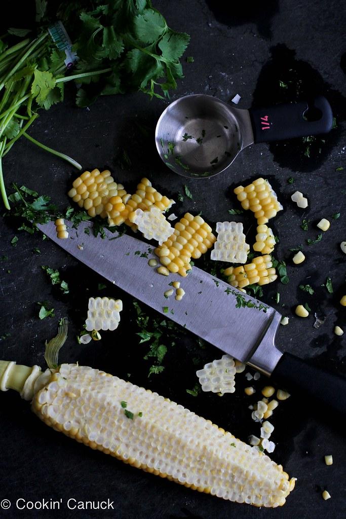 Jicama, Black Bean & Corn Salsa Recipe   cookincanuck.com #vegetarian #vegan