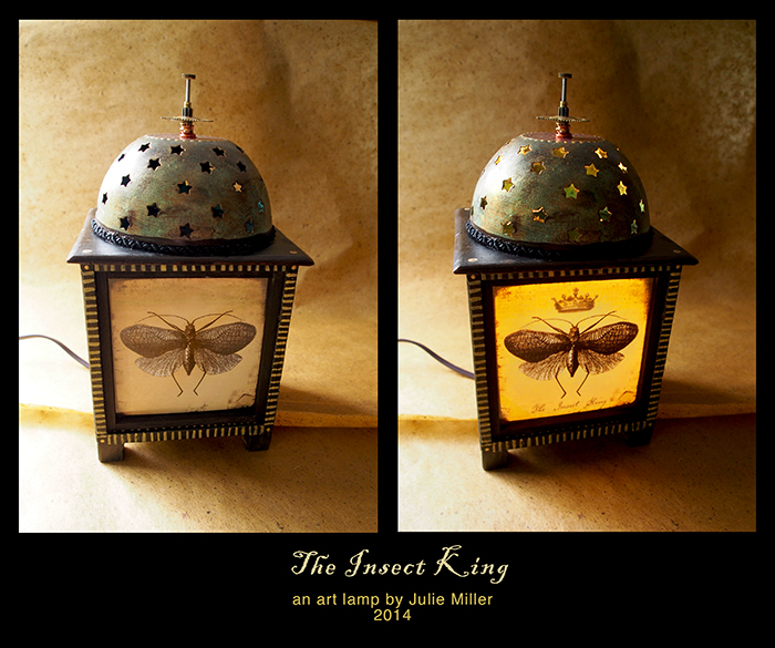 The Insect King, an art lamp by Julie Miller 2014