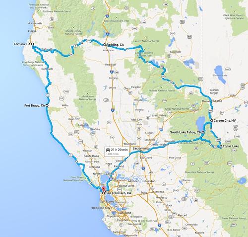 Itinéraire du voyage entier