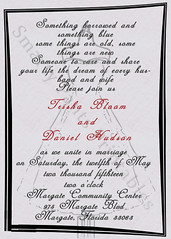 Grey Dress Wedding Invite