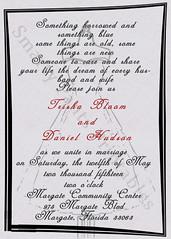 Grey Dress Wedding Invite