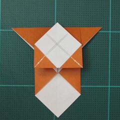 วิธีพับกระดาษเป็นที่คั่นหนังสือรูปหมาบูลด็อก (Origami Bulldog Bookmark) 006