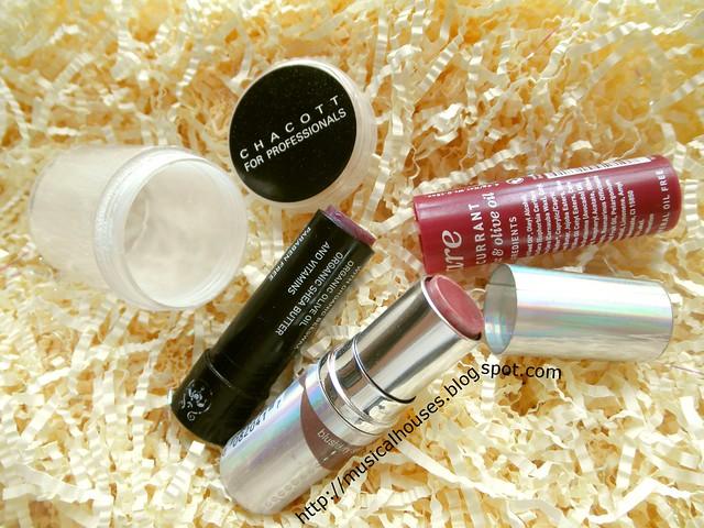 Empties Apivita Lipbalm Chacott Finishing Powder Covergirl Lipstick