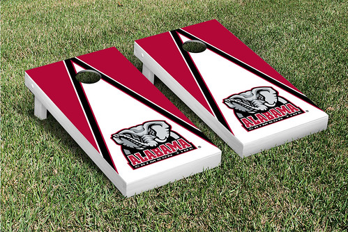 Alabama Crimson Tide Cornhole Game Set Triangle V2
