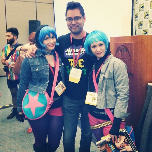 Double Ramonas and Scott Pilgrim Guy™ @radiomaru #SDCC2014 #sdcc
