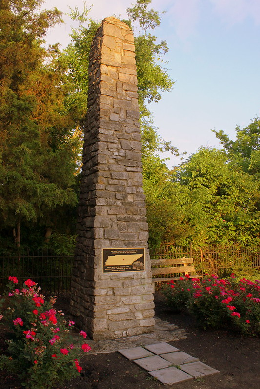 Geographic Center of Tennessee monument
