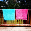 Nothing says summer like towels drying in the sun.