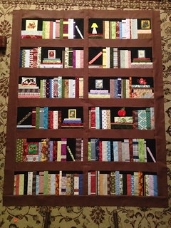 Bookshelf quilt top