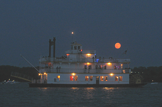 Supermoon on the River