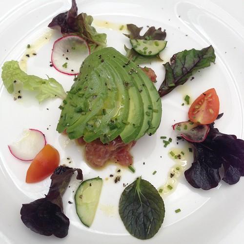 Hand Chopped Red Tuna Tartar served with Avocado 'Battuta' - Burlamacco Ristorante