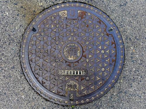 Kamagari Hiroshima, manhole cover (広島県蒲刈町のマンホール)