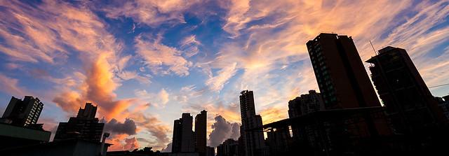 頂樓的日出