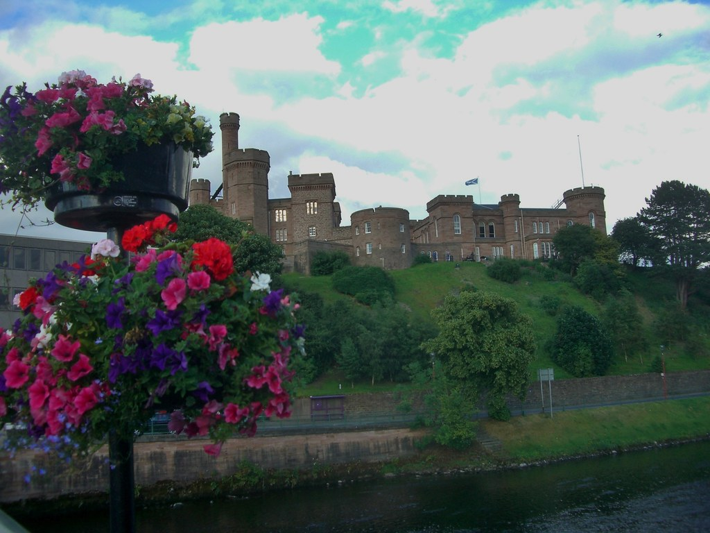 Inverness Castle flowers