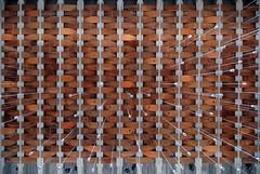 hans christian hansen, architect: tagensbo kirke / church, copenhagen 1966-1970. ceiling.