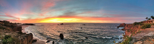 ocean sunset panorama seascape water mexico photography coast photo foto image pano fav20 resort pacificocean coastal photograph february puntamita fav30 iphone 2014 fav10 fav40 rivieranayarit mabrycampbell fspuntamita