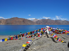 Pangong Tso-Prayer Flags-Ladakh-India