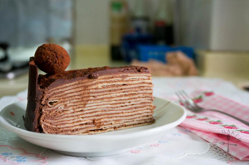Chocolate Kahlua Crepe Cake