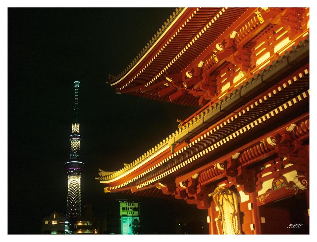 日本 淺草寺  夜景