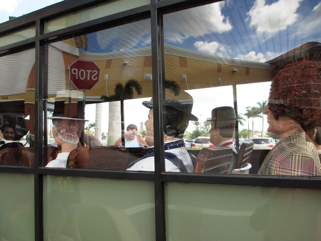 Passengers in the Antique Bus, Aug. 2, 2014