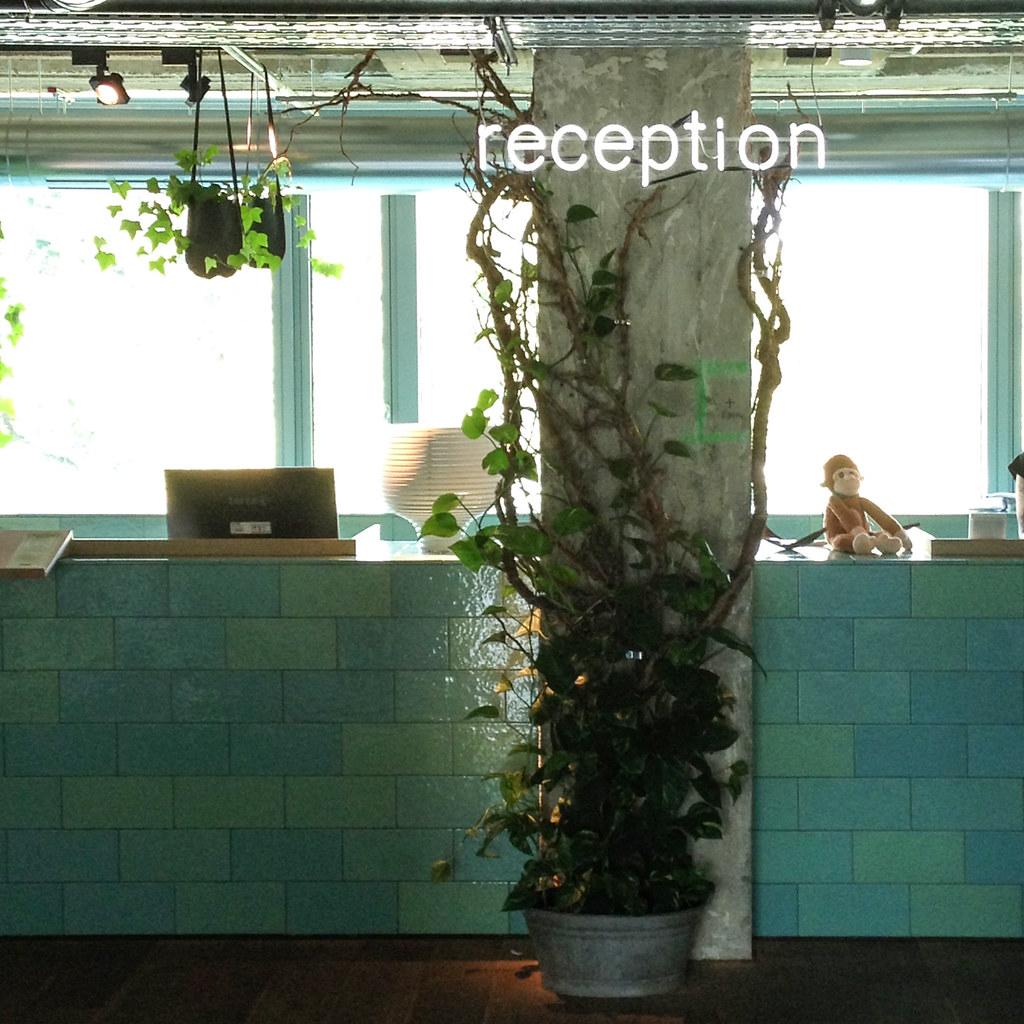 Hotel design à Berlin Tiergarten - Le 25h hotel Bikini - La réception