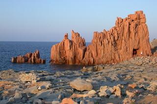 Rocas rojas en Arbatax.
