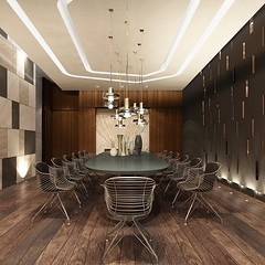 The dining area of the party room at #TheEglinton; register now at Menkes.com #LifeStoreys #Toronto