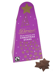 Divine Milk Chocolate Christmas Stars