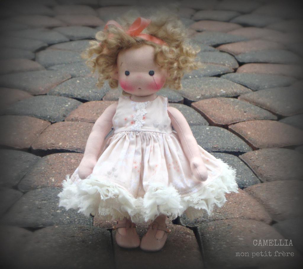 """Camellia-9"""" Petite Fleur style doll by Mon Petit Frère"""